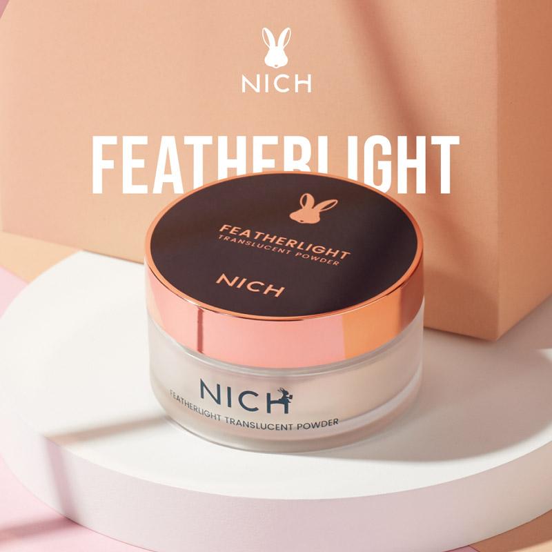 แป้งฝุ่น นิช NICH Featherlight Translucent Powder แป้งฝุ่นยี่ห้อไหนดี แป้งที่เนียนที่สุด แป้งฝุ่นโปร่งแสงที่ดีที่สุด