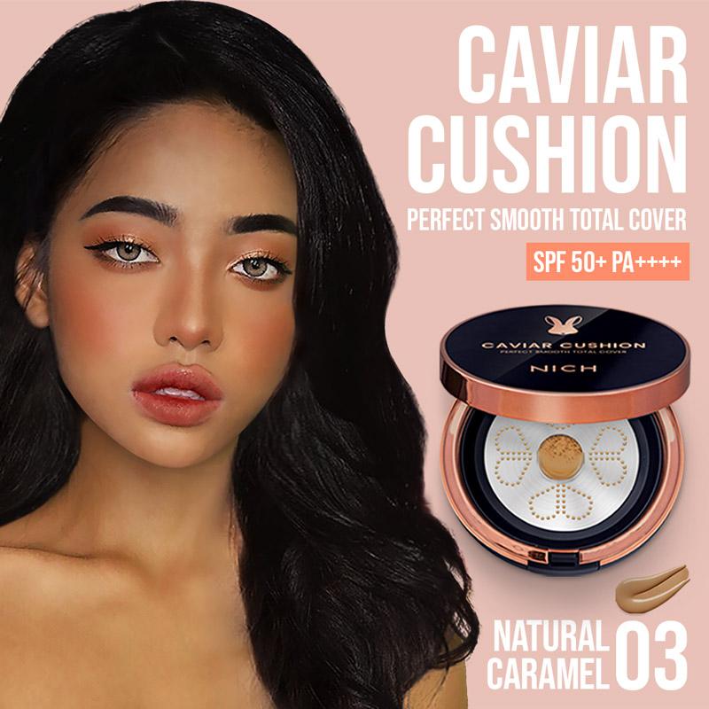 NICH Caviar Cushion #03 Natural Caramel: Cushion Foundation for Dark Skin Tone