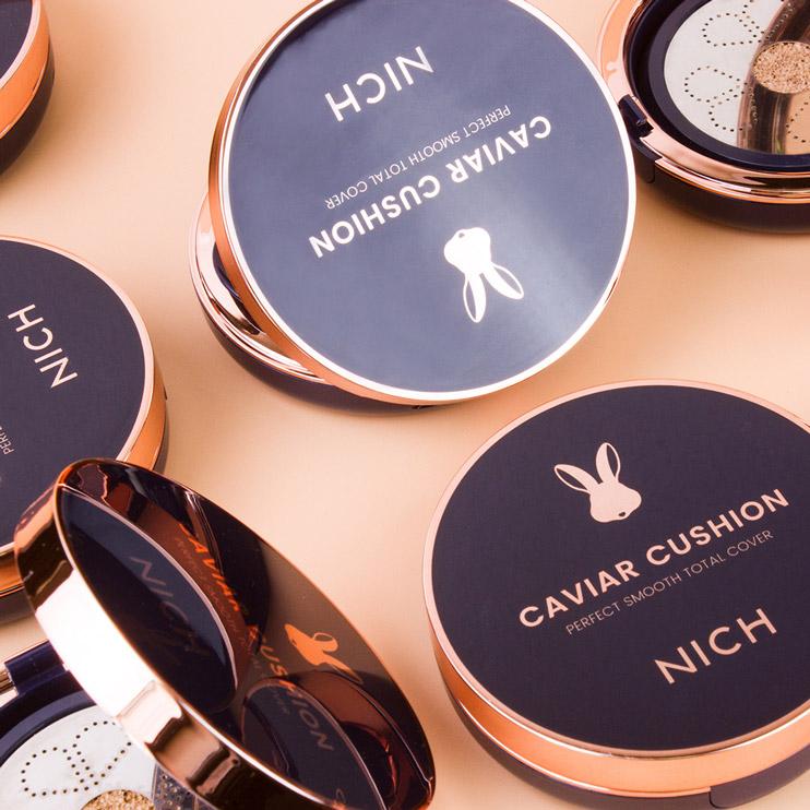 คุชชั่น นิช NICH CAVIAR CUSHION SPF 50+ PA++++ คุชชั่นที่ดีที่สุด ปกปิดแต่บางเบาราคาไม่แพง ผสมกันแดด เนื้อเนียนกันน้ำกันเหงื่อ
